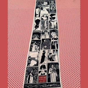 Long silk vintage Aubrey Beardsley scarf